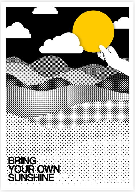 Bring your own sunshine! // Illustrated #Quotes by Tang Yau Hoong | Undermatic
