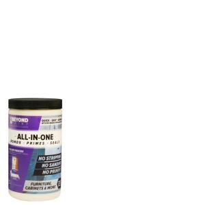 Beyond Paint 1 Qt Bright White Furniture Cabinet Countertop And More Multi Surface All In One Interior Exterior Refinishing Paint Bp12 The Home Depot Beyond Paint White Furniture Refinishing Kit