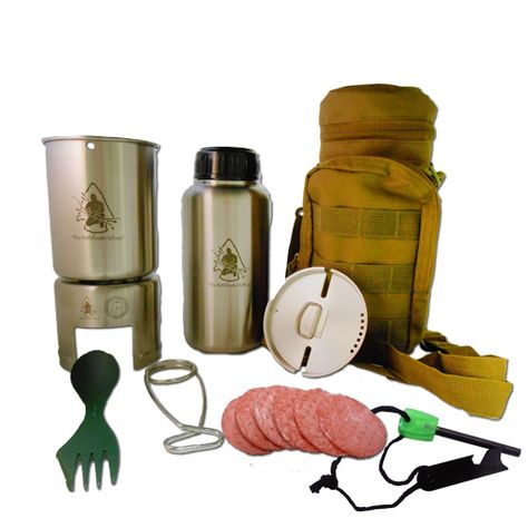 Stainless Steel Bottle Cooking Kit complete cooking kit for adventures