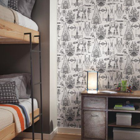 Pin By Chloe Kipling On Kids In 2020 With Images Home Decor Star Wars Bedroom Peel And Stick Wallpaper
