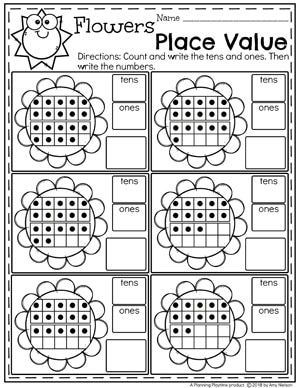Place Value Worksheets Planning Playtime Kindergarten Math Activities Kids Math Worksheets Place Value Worksheets