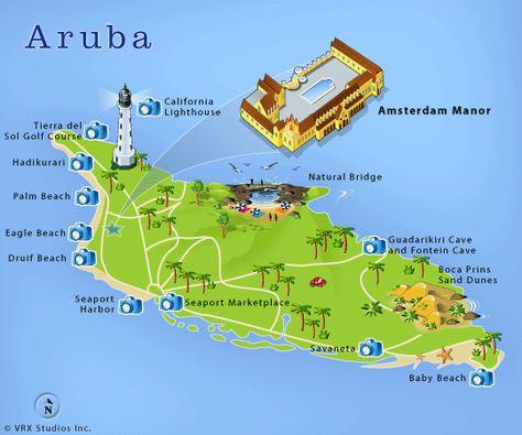 Location on Aruba, Amsterdam Manor Beach Resort