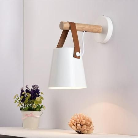 Tioka White Wall Light For Bedroom Wood Wall Lamps Wall Lamp Wall Lights