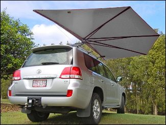 Car Shade Clevershade 4wd Vehicle Awning Silver Car Shade Car Shades