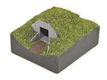 How to make a model wwii anderson shelter-air raid shelter.