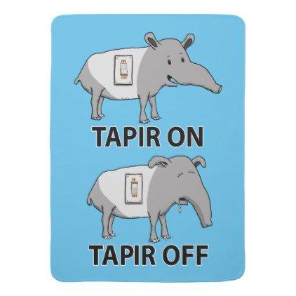 Cute And Funny Tapir On Tapir Off Baby Blanket Zazzle Com Tapir Baby Blanket Baby Soft