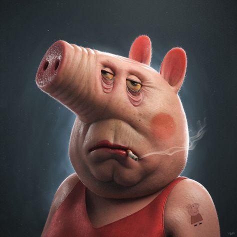 A Peppa Pig Do Paulistano Yan Blanco Cartoon Cartoon Fotos De