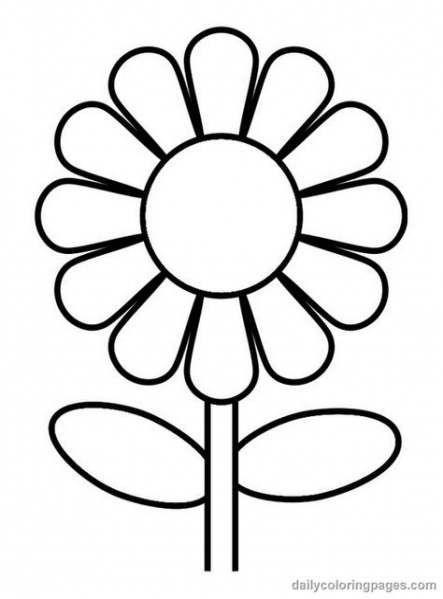 56 Trendy Flowers Drawing Kids Simple Sunflower Coloring Pages Flower Coloring Pages Flower Pattern Drawing