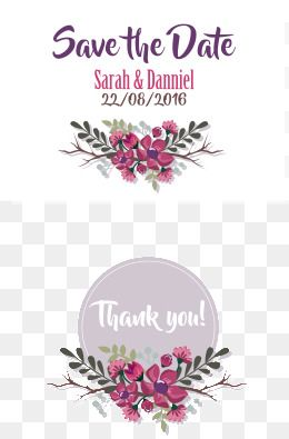 Vector Purple Border Wedding Clipart Invitation Card Purple Png