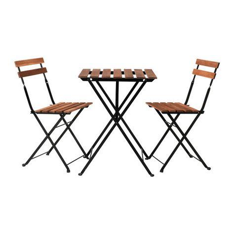 Ikea Tavolo Legno Giardino.Ikea Bistro Set 49 99 Ikea Exterior Muebles De Comedor Mesa