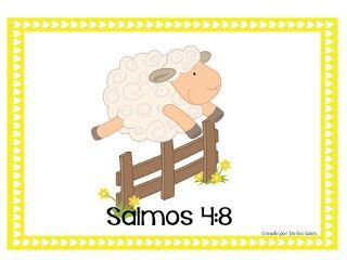 Salmo 4 8 De Los Tales Versiculos De La Biblia Para Ninos Biblia Para Ninos Manualidades Para Ninos Cristianos