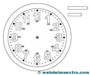 Relojes Para Aprender La Hora Web Del Maestro Aprender La Hora Figuras Para Colorear Web Del Maestro