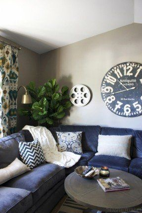 Navy Blue Sectional Sofa Ideas On Foter Family Room Sectional Home Living Room Living Room Designs