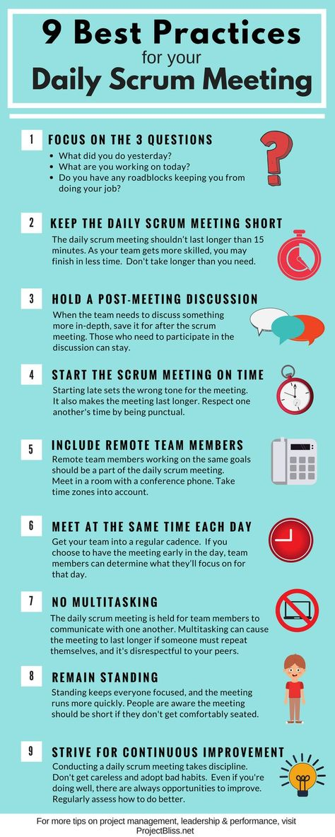 9 Best Practices for Your Daily Scrum Meeting - Project Bliss
