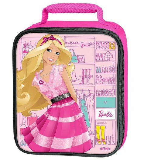Barbie Cute Pink Lunch Bag, Insulated Storage for Lunch Box, New Tote Thermos #Thermos
