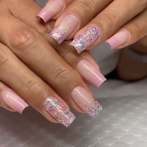 GLITTER NAIL ART Nude colors and a little glitter always look chique !Nude colors and a little glitter always look chique !