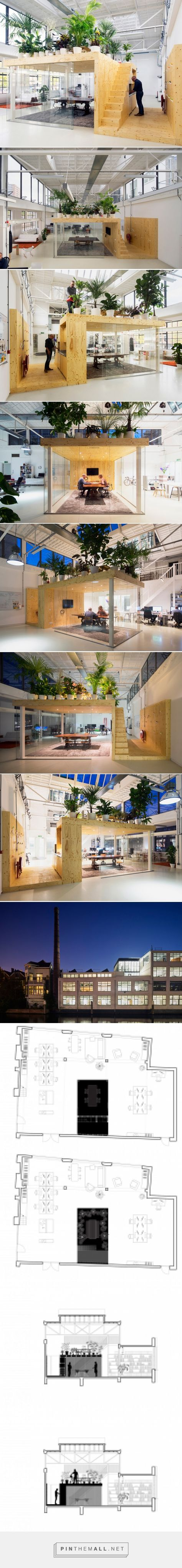 jvantspijker's renovated office includes an indoor garden... - a grouped images picture