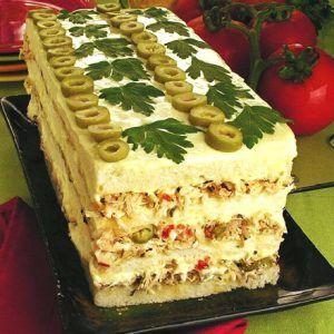 Torta Fria De Pao De Forma Com Frango Torta Fria De Frango