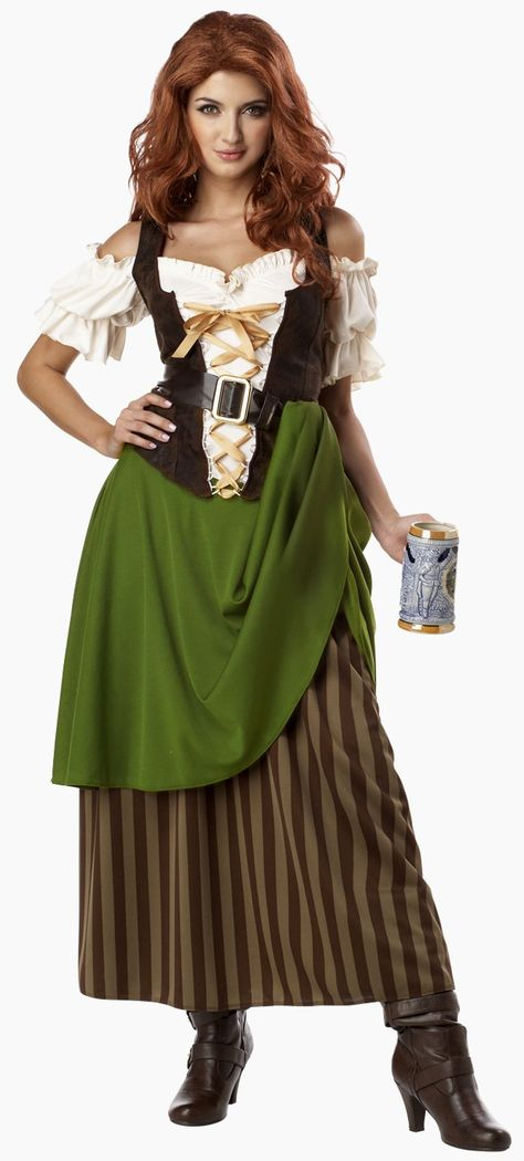 Tavern Maiden Adult #Pirate #Costume   I like this because of the long skirt, and because I think it's unique.
