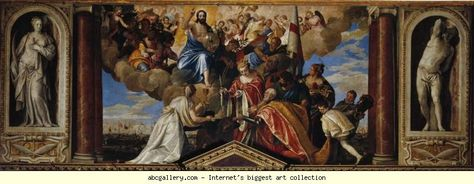 The Allegory of the Battle of Lepanto is a painting by Paolo Veronese. The lower half of the painting shows the events of the battle of Lepanto, whilst at the top a female personification of Venice is ... Wikipedia Artist: Paolo Veronese Dimensions: 5′ 7″ x 4′ 6″ Location: Gallerie dell'Accademia Media: Oil paint Created: 1572 Period: Mannerism