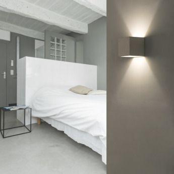 Applique Murale Kamen Gris L11 5cm H11 5cm Faro Parement Mural Eclairage Mural Et Deco Chambre A Coucher