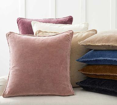 Fringe Velvet Pillow Covers