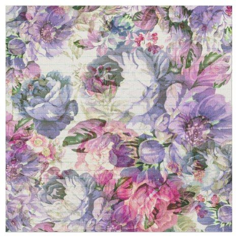 Vintage Bohemian Rustic Pink Lavender Floral Fabric Flower Drawing Lavender Floral Fabric Pastel Color Background
