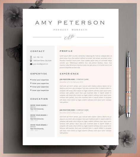 Creative Resume Template CV Template Resume Template Word - Copy Editor Resume
