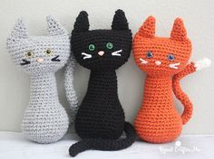 Free Amigurumi Cat : Ravelry: crochet colorful kitty cat doll toy free pattern by dds