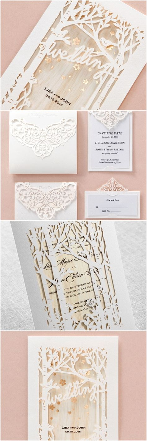 wedding stationery packages uk%0A Laser Cut Tree Wedding Invitation  Fall Wedding Invitation  Tree Wedding  Invite  Rustic Wedding Invitation  Autumn Wedding TREE    IVORY   Laser  cutting