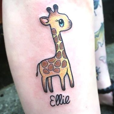 Small Cute Giraffe Tattoo Idea Giraffe Tattoos Tattoos Small Giraffe Tattoo