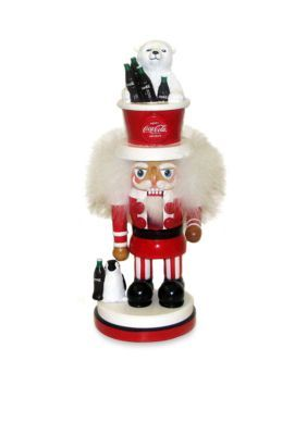 Kurt S. Adler Coca-Cola Hollywood Nutcracker With Polar Bear Hat - Black - One Size