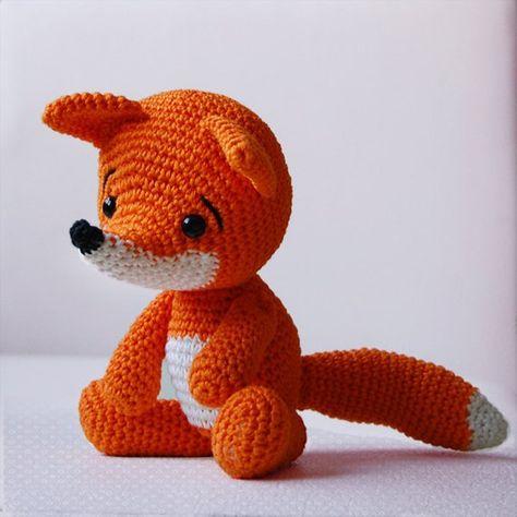 AMIGURUMI PATTERN crochet fox in overalls - fox stuffed animal ...   474x474
