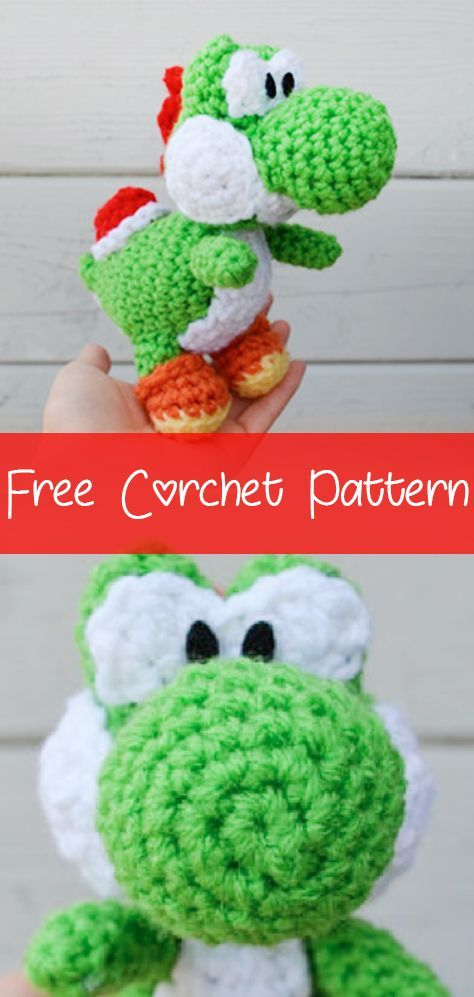 Yoshi Pattern Amigurumi Crochet PDF | Patrones amigurumi, Muñecos ... | 997x474