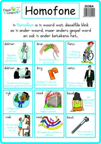 Homofone With Images Afrikaans Language Afrikaans