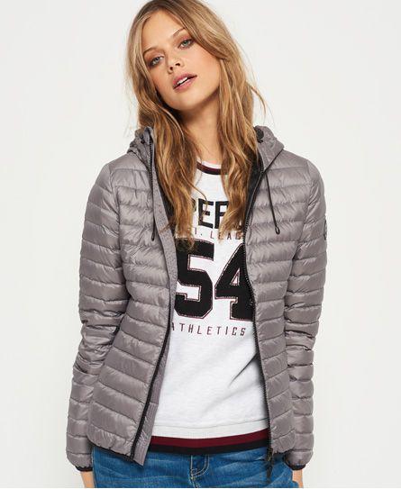 Superdry Core Down Hooded Jacket Women's Jackets & Coats