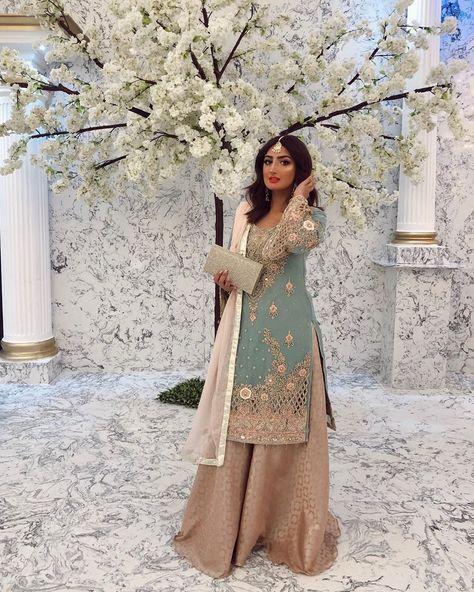 Party Wear Indian Dresses, Pakistani Fashion Party Wear, Pakistani Wedding Outfits, Indian Bridal Fashion, Pakistani Bridal Wear, Dress Indian Style, Pakistani Wedding Dresses, Party Dresses, Simple Pakistani Dresses