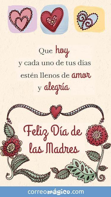 Que Hoy Y Cada Día Esten Llenos De Amor Y Alegría Feliz Dia De Las Madres Ing Feliz Cumpleaños Compañera Postales De Feliz Cumpleaños Feliz Dia Madres Frases