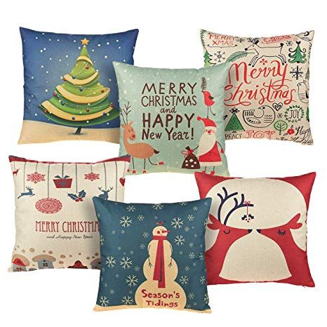 Christmas Square Pillow Covers