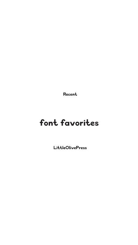 Recent Font Favorites (March)
