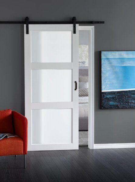 Erias Home Designs Continental Glass Barn Door With Installation Hardware Kit Wayfair Glass Barn Doors Interior Barn Doors Doors Interior