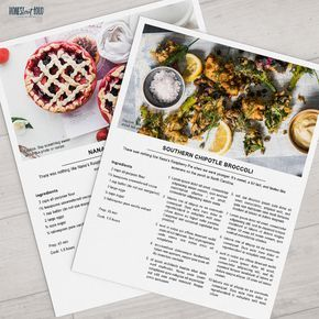 Photoshop Printable Recipe Template Us Letter 8 5x11 And A4 Etsy Homemade Recipe Books Cookbook Template Recipe Template