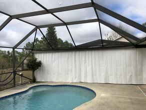 Outdoor Privacy Curtains Privacy On Demand Outdoor Privacy Pool Screen Enclosure Pool Patio