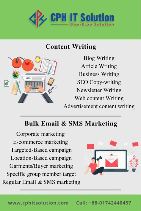 Content Writing - Bulk Email & SMS Marketing