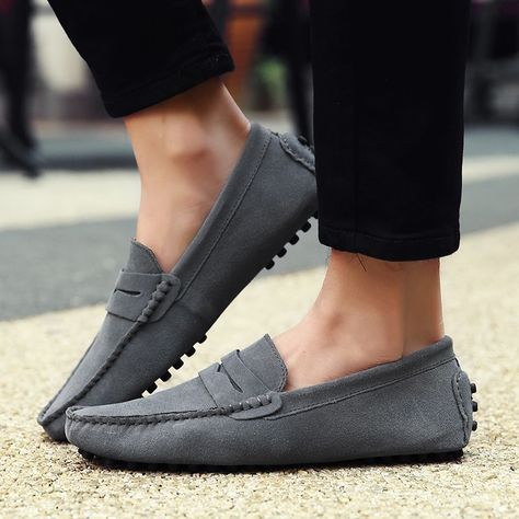 Men Casual Shoes 2019 Fashion Men Shoes Leather Men Loafers Moccasins Slip  On Men's