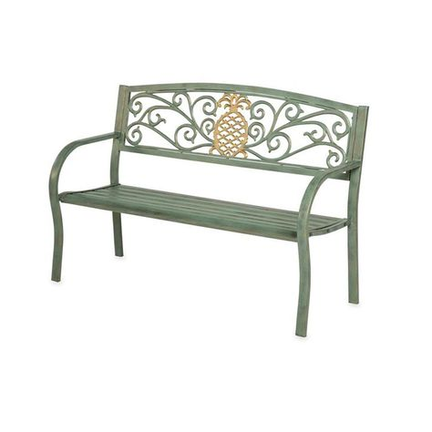 Pleasant Cape Craftsman 50 In Pineapple Metal Outdoor Garden Bench Caraccident5 Cool Chair Designs And Ideas Caraccident5Info
