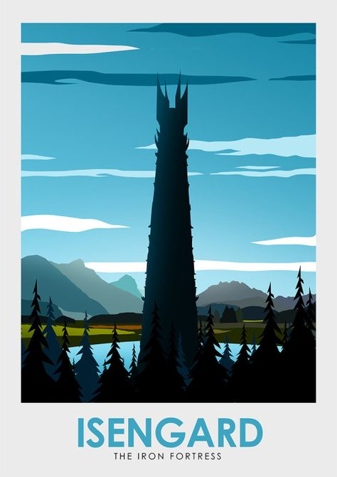 Lord of the Rings: Middle Earth Travel Poster Set - Created by Ciaran Monaghan