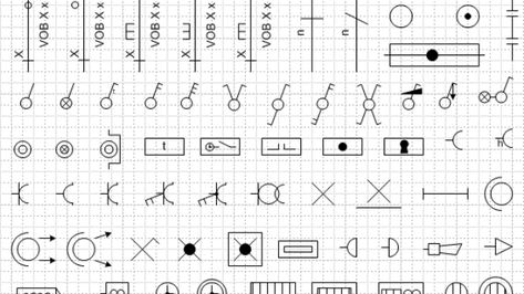Een overzicht van de verschillende elektrische symbolen.