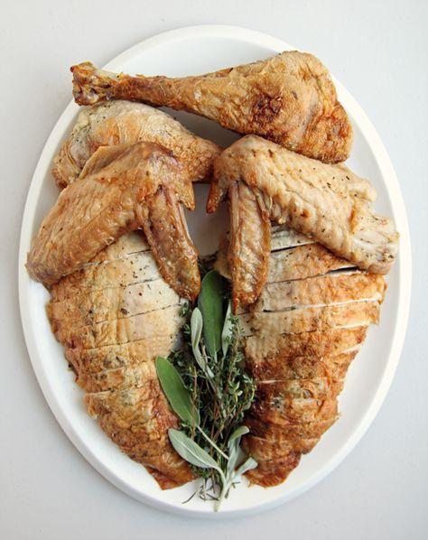 Easy Herb-Roasted Thanksgiving Turkey Recipe — no brining necessary!