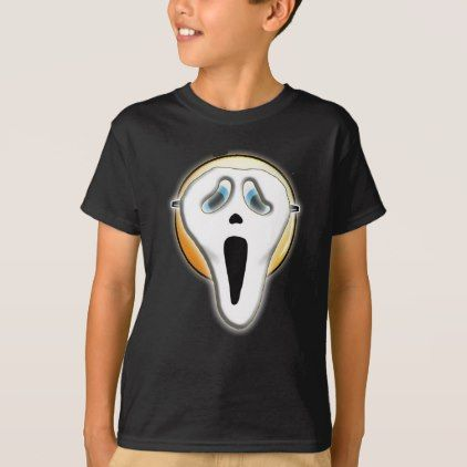Halloween Funny Ghost Face Emoji Mask Tshirt